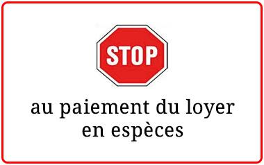 stop paiement loyer espèce